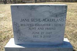 Jane Elsie Ackerland