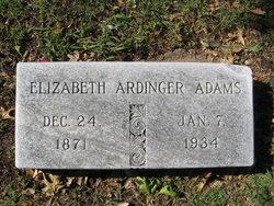 Elizabeth Bessie <i>Ardinger</i> Adams