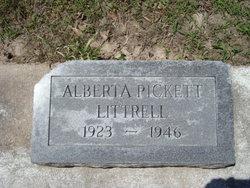 Alberta <i>Pickett</i> Littrell