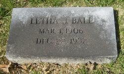 Letha Jane <i>Hutson</i> Ball