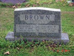 Johnnie <i>Burris</i> Brown
