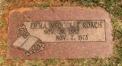Anna Emmaline Cattle Annie <i>McDoulet</i> Roach