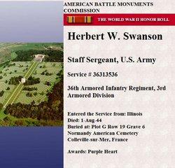 SSgt Herbert W Swanson