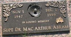 Dr. Mac Arthur Abram