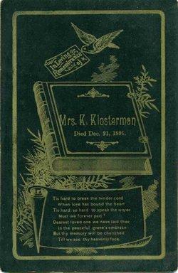 Katherine Kate <i>Gehring</i> Brandt Klosterman
