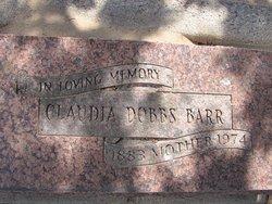 Claudie <i>Dobbs</i> Barr