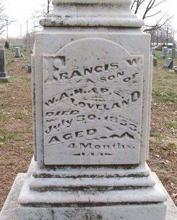 Francis W Frankie Loveland