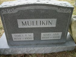 Mary Ann <i>Larrimore</i> Mullikin