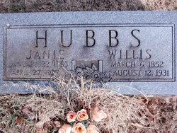 Rebecca Jane Janie <i>Evans</i> Hubbs