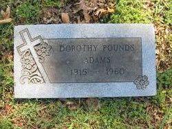 Dorothy <i>Pounds</i> Adams