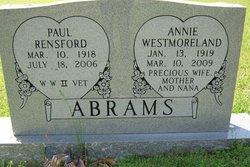 Ann R. Annie <i>Westmoreland</i> Abrams