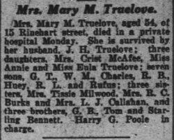 Mary Martha <i>Bennett</i> Truelove