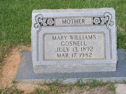 Mary <i>William</i> Gosnell