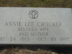 Anna Lee Annie <i>Goad</i> Crocker