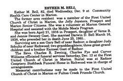 Esther M <i>Gast</i> Bell