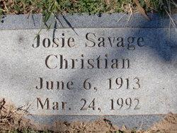 Josie Belle <i>Savage</i> Christian