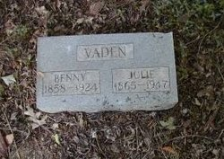 Benjamin J. Benny Vaden