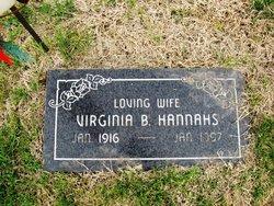 Virginia B. Hannahs
