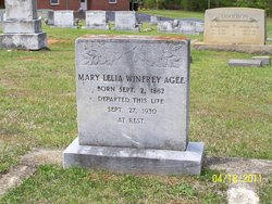 Mary Lelia Holman <i>Winfrey</i> Agee