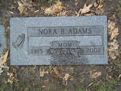 Nora B <i>Mishler</i> Adams