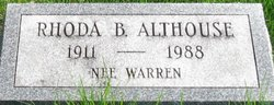 Rhoda Burdian <i>Warren</i> Althouse