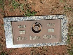 Alice Green <i>Bates</i> Adkins