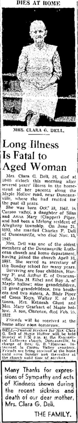 Clara Genetta <i>Piper</i> Dell