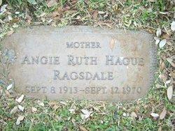 Angie Ruth <i>Hague</i> Ragsdale