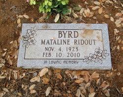 Mataline <i>Ridout</i> Byrd