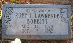 Ruby I. <i>Lawrence</i> Bobbitt
