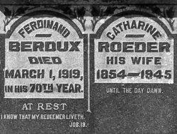 Catharine <i>Roeder</i> Berdux