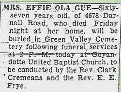 Effie Ola <i>Baker</i> Gue