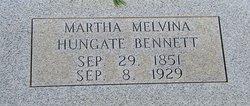 Martha Melvina Viney <i>Hungate</i> Bennett