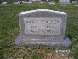 Maxine G Acton