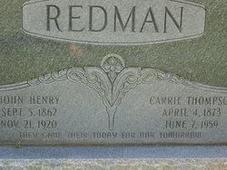 Carrie Lou <i>Thompson</i> Redman