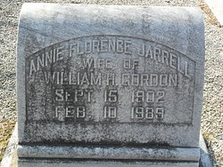 Annie Florence <i>Jarrell</i> Gordon