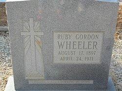 Ruby <i>Gordon</i> Wheeler