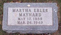 Martha E <i>Erler</i> Maynard