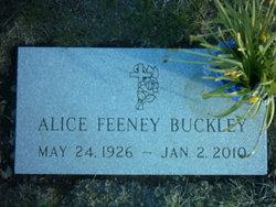 Alice <i>Feeney</i> Buckley