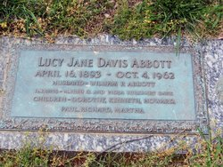 Lucy Jane <i>Davis</i> Abbott