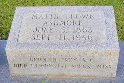 Martha Agnes Mattie <i>Brown</i> Ashmore