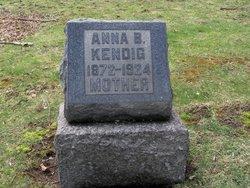 Anna B <i>Mechan</i> Kendig
