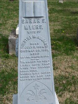 Sarah Jeanette Nettie <i>Myers</i> Alward