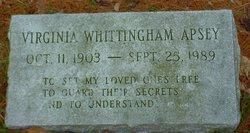 Virginia <i>Whittingham</i> Apsey