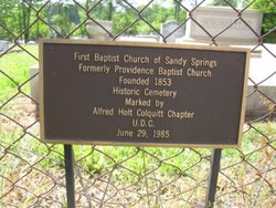 Sandy Springs First Baptist Church Cemetery