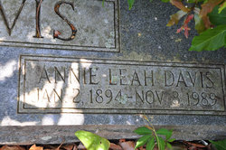 Annie Leah <i>Mercer</i> Davis