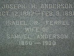 Isabell Rebecca <i>Ferrel</i> Anderson