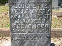 Loucretie Peterson <i>Wells</i> Avery