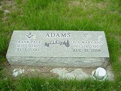 Lila Mary Ann <i>Morris</i> Adams