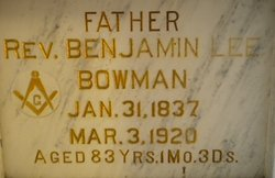 Rev Benjamin Lee Bowman